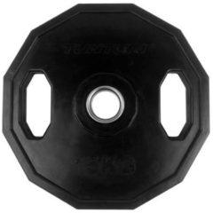 Zwarte Tunturi Olympische Halterschijf - Halter gewichten - 1x 15 kg - 50mm - Rubber