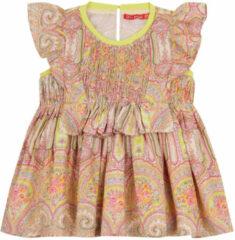 Beige Oilily Dana roze paisley jurkje met gesmokt bovenlijfje