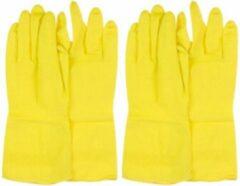Orange85 Huishoudhandschoenen - 2 Paar - Small - Rubber - Geel - Schoonmaakhandschoenen - Schoonmaaktextiel - Extra lang