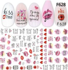 Roze GUAPÀ - Nail Art 3D Rosé Love Stickers - Nagel Decoratie & Versiering Folie - 92 pieces