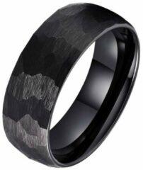 Tom Jaxon wolfraam Ring Facet Mat Zwart-21mm