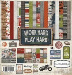 """Carta Bella: Work Hard Play Hard Collection Kit 12X12"""""""