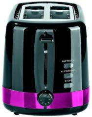 Gourmetmaxx Design-Toaster, schwarz/brombeer GOURMETmaxx schwarz/brombeer