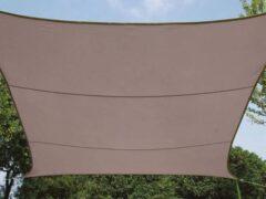 Perel Velleman Schaduwdoek / Zonnezeil - Rechthoek - 2 x 3m - Taupe
