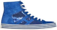 Blue Hogan Rebel Scarpe sneakers alte donna in pelle rebel r141 laterale paillettes