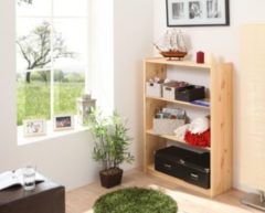 Ticaa Standregal Bücherregal Kiefer massiv Natur 112cm hoch