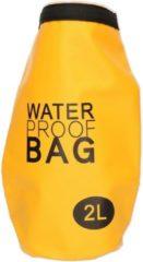 Merkloos / Sans marque Gele waterdichte tas 2 liter
