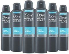 Dove Men+Care Dove Men + Care Deospray XL - Clean Comfort - Voordeelverpakking 6 x 250 ml