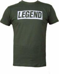 Legend Sports T-shirt army groen Legend inspiration quote 2XS
