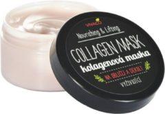 VIVACO Collageen masker - 100 ml - Houdt de huid jong, mooi en stevig. Vermindert rimpels en pigmentvlekken, verhoogt de elasticiteit en zachtheid van de huid en versterkt de natuurlijke huidbarrière.