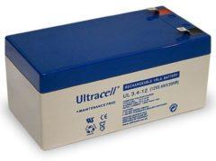 Ultracell UL VRLA Loodaccu 12Volt 3,4Ah - UL3.4-12 - 6FM3.4 VdS