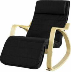 Simpletrade Schommelstoel | Comfortabel | Verstelbaar | Trendy | Zwart