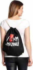 Marvel SpiderMan Gymtas/Rugtas -One size- Amazing Zwart