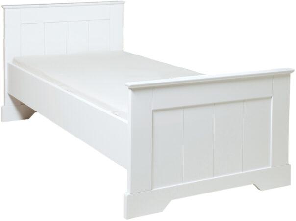 Afbeelding van Bopita bed met hoog hoofdeinde 90X200 Narbonne wit (90x200 cm)