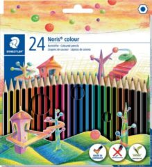 Staedler kleurpotloden Noris Colour, ophangdoos met 24 stuks in geassorteerde kleuren
