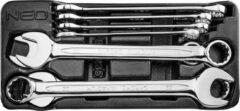 Neo Tools Steekringsleutelset 8 Delig 20 T/m 32mm Inleglade Gemaakt Volgends DIN 3115