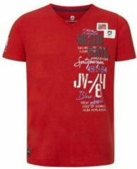 Jan Vanderstorm T-shirt KOLBJORN met printopdruk en 3D applicatie Plus Size rood