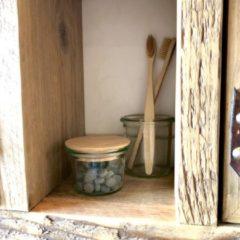 Groene Green-goose Vegan Tandpasta Tabletten | 60 Stuks in Glazen Pot | Bamboe deksel | 2 Tandenborstels | Duurzaam | Geen Plastic