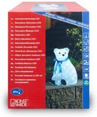 Witte Konstsmide Acrylic polar bear, LED 40lampen Geschikt voor buitengebruik LED Wit