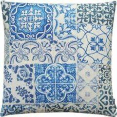 The Cushion Shop sierkussen Antique Tiles blauw