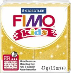 PacklinQ FIMO® Kids boetseerklei, goud, glitter, 42gr