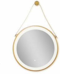 Badstuber Hannover ronde badkamer spiegel mat goud 60cm