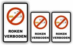 Allerhande Stickers Stickers Verboden te roken (set 3 stuks A)