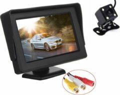 BrandWay Achteruitrijcamera infrarood nachtzicht inclusief 4,3 inch Beeldscherm voor Auto / Camper