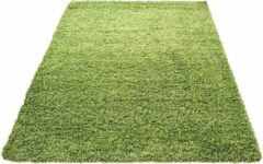 Decor24-AY Hoogpolig vloerkleed Life - groen - 80x250 cm