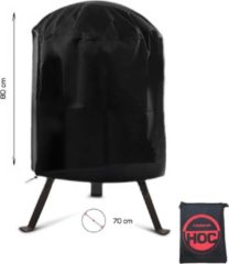 Zwarte CUHOC COVER UP HOC RED BBQ hoes rond - 70x80 cm - Barbecue hoes - afdekhoes ronde bbq