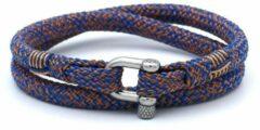 MR. JACOB Hazel oranjeblauwe dubbele touw armband