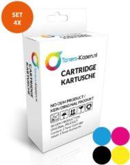 Paarse Toners-kopen.nl Compatibel Set van 4x inkt cartridge voor Epson T04A T04B T04C WFC8190 Toners-kopen nl