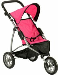 Roze De Luxe Buggy Jogger (poppenwagen)
