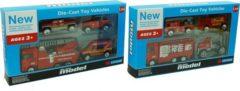 ARO toys Brandweervoertuigen 4 stuks in een verpakking