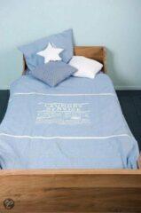 Blauwe CottonBaby 1-Persoons dekbedovertrek Laundry