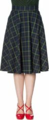 Dancing Days Rok -XL- MRS CLAUSE PLEATED Groen