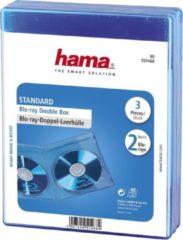Hama Lege dubbele Blue-ray doosjes 2 Blu-ray discs, set van 3 Double Blauw 2 Blu-ray discs (b x h x d) 135 x 170 x 10 mm