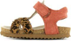 Bruine Shoesme sandaal met luipaard en brons suede (BI20S074-A). Maat 27