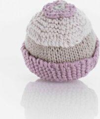 Pebble organic rammelaar - Cupcake roze
