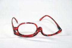 Rode Melleson Optics Make up bril +3.00 met handige etui