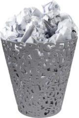 Balvi prullenbak Letters grijs kunststof