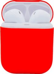 Sarzor Airpods Hoesje - Stevige Siliconen Airpods Case - Rood