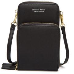 Merkloos / Sans marque Compact Telefoontasje – 3 Compartimenten – Zwart – Ideaal Voor op Een Feestje