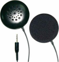 Zwarte SoundLAB Low Profile Stereo Kussenluidspreker met 3.5mm Jack Plug voor Telefoon/MP3 speler