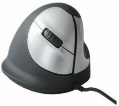 R-Go Tools Bedrade Verticale Ergonomische Muis HE (165-195mm) Optisch voor Rechtshandige gebruikers 1,6 USB-A Zwart, zilver