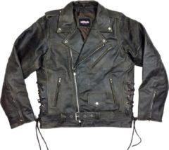 Attitude Holland Leren jacket -L- Buffalo Marlon Brando Bruin