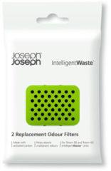 Witte Joseph Joseph Intelligent Waste Geurfilter - Kunststof - Set van 2 Stuks - Zwart