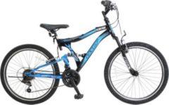 24 Zoll Jungen Fully Mountainbike 21 Gang Hoopfietsen... schwarz-blau