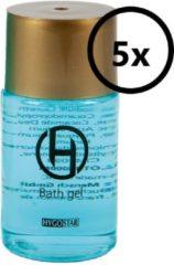 Transparante Hygostar Showergel - mini reisverpakking wegwerp 25ml flesje met schroefdop 5st. (hotel, reis, B&B, wellness)