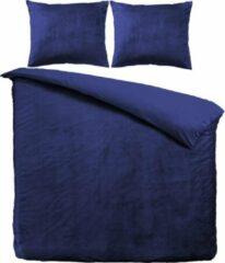 Marineblauwe Velvet Couture Dekbedovertrek - 240x200/220 cm - Velvet Touch - Navy